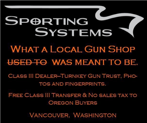 Sporting Systems Gun Shop Banner