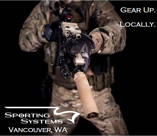 Get your gun gear locally. Sporting Systems.