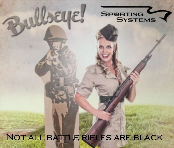 Not all battle rifles are black. Sporting Systems.